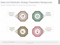 Sales And Distribution Strategy Presentation Backgrounds