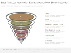 Sales And Lead Generation Example Powerpoint Slide Introduction