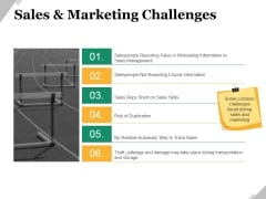 Sales And Marketing Challenges Ppt PowerPoint Presentation Slides Demonstration