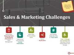 Sales And Marketing Challenges Ppt PowerPoint Presentation Styles Master Slide
