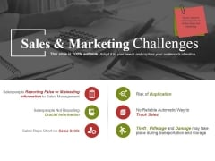 Sales And Marketing Challenges Ppt PowerPoint Presentation Visual Aids Backgrounds