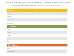 Sales And Marketing Plan For Advertising Powerpoint Slide Background