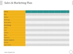 Sales And Marketing Plan Ppt PowerPoint Presentation Diagrams
