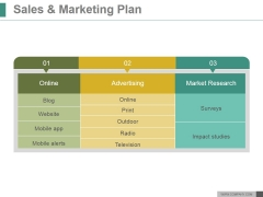Sales And Marketing Plan Ppt PowerPoint Presentation Outline
