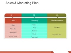 Sales And Marketing Plan Template 2 Ppt PowerPoint Presentation Professional Guide