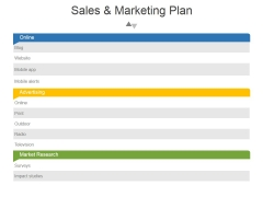 Sales And Marketing Plan Template 2 Ppt PowerPoint Presentation Show