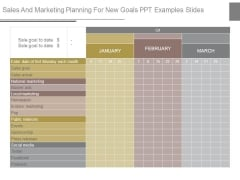 Sales And Marketing Planning For New Goals Ppt Examples Slides