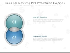 Sales And Marketing Ppt Presentation Examples