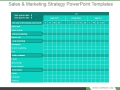 Sales And Marketing Strategy Powerpoint Templates