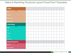 Sales And Marketing Structural Layout Powerpoint Templates