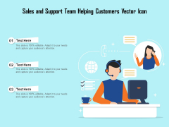 Sales And Support Team Helping Customers Vector Icon Ppt PowerPoint Presentation Model Picture PDF