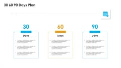 Sales Assistance Boost Overall Efficiency 30 60 90 Days Plan Ppt Professional Slides PDF