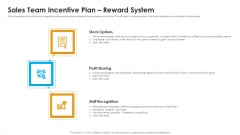 Sales Assistance Boost Overall Efficiency Sales Team Incentive Plan Reward System Diagrams PDF