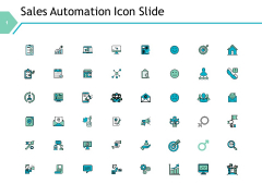 Sales Automation Icon Slide Ppt PowerPoint Presentation Professional Vector