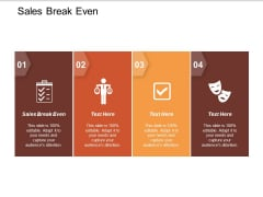 Sales Break Even Ppt PowerPoint Presentation Professional Ideas