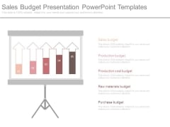 Sales Budget Presentation Powerpoint Templates