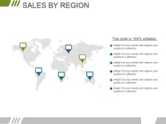 Sales By Region Ppt PowerPoint Presentation Example