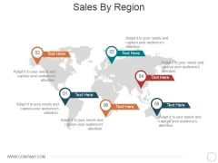 Sales By Region Ppt PowerPoint Presentation File Files