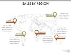 Sales By Region Ppt PowerPoint Presentation Icon Diagrams