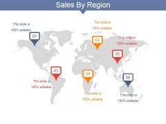 Sales By Region Ppt PowerPoint Presentation Ideas Images