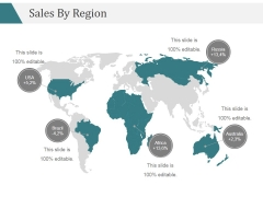 Sales By Region Ppt PowerPoint Presentation Infographic Template