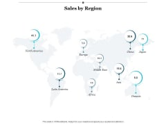 Sales By Region Ppt Powerpoint Presentation Infographics Example File