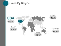 Sales By Region Ppt PowerPoint Presentation Picture
