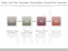 Sales Call Plan Template Presentation Powerpoint Example