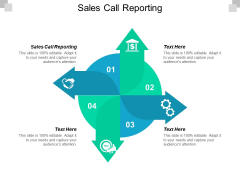 Sales Call Reporting Ppt PowerPoint Presentation Pictures Gallery Cpb