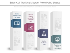 Sales Call Tracking Diagram Powerpoint Shapes
