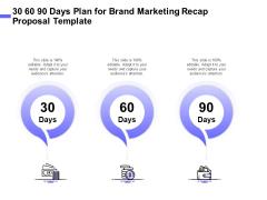 Sales Campaign Recap 30 60 90 Days Plan For Brand Marketing Recap Proposal Template Graphics PDF