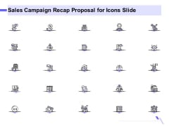 Sales Campaign Recap Proposal For Icons Slide Ppt PowerPoint Presentation Background PDF