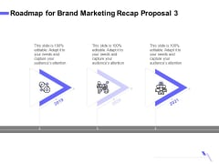 Sales Campaign Recap Roadmap For Brand Marketing Recap Proposal 3 Ppt PowerPoint Presentation Outline Show PDF