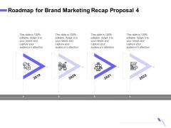 Sales Campaign Recap Roadmap For Brand Marketing Recap Proposal 4 Ppt PowerPoint Presentation Visual Aids Deck PDF