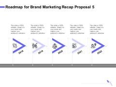 Sales Campaign Recap Roadmap For Brand Marketing Recap Proposal 5 Ppt PowerPoint Presentation Styles Example PDF