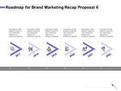 Sales Campaign Recap Roadmap For Brand Marketing Recap Proposal 6 Ppt PowerPoint Presentation File Infographics PDF