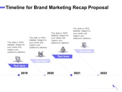 Sales Campaign Recap Timeline For Brand Marketing Recap Proposal Ppt PowerPoint Presentation Infographic Template Graphics Template PDF