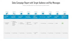 Sales Campaign Report With Target Audience And Key Messages Ppt Model Aids PDF