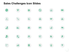 Sales Challenges Icon Slides Growth Ppt PowerPoint Presentation Ideas Microsoft