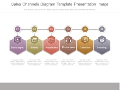 Sales Channels Diagram Template Presentation Image