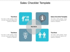 Sales Checklist Template Ppt PowerPoint Presentation Inspiration Tips Cpb