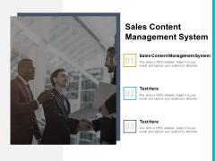 Sales Content Management System Ppt PowerPoint Presentation Professional Master Slide Cpb Pdf