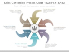 Sales Conversion Process Chart Powerpoint Show