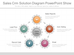 Sales Crm Solution Diagram Powerpoint Show