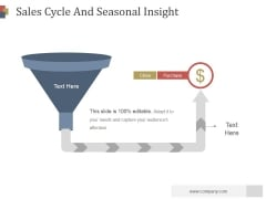 Sales Cycle And Seasonal Insight Ppt PowerPoint Presentation Deck