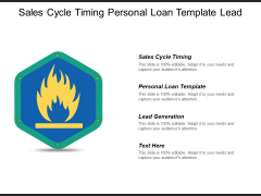 Sales Cycle Timing Personal Loan Template Lead Generation Ppt PowerPoint Presentation Ideas Slide Download