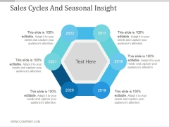 Sales Cycles And Seasonal Insight Ppt PowerPoint Presentation Summary