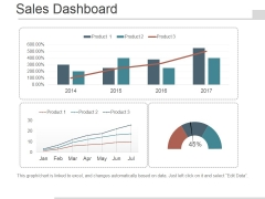Sales Dashboard Slide Template 1 Ppt PowerPoint Presentation Layouts