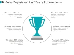 Sales Department Half Yearly Achievements Ppt PowerPoint Presentation Guidelines