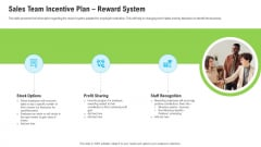 Sales Department Strategies Increase Revenues Sales Team Incentive Plan Reward System Inspiration PDF